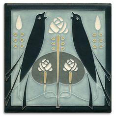 Art Nouveau Arts Amp Crafts Tiles Plaque Fireplace