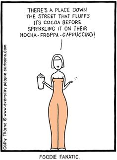 Coffee Foodie Cartoon