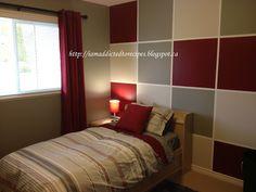 Art Boy Bedroom Makeover home Accent Wall Bedroom, Bedroom Red, Master Bedroom, Boys Bedroom Themes, E Room, Guest Bedrooms, Interior Design, Warm Colours, Blue Colors