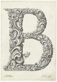 Letter B (Jan Chrystian Bierpfaff + Jeremiasz Falck, 1656) #lettering #typography #typostrate Letter B (Jan Chr..