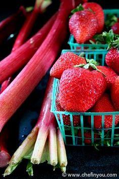 Stewed Rhubarb Recipe with Strawberries