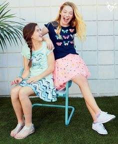 Skirts and tops in made-to-match prints created by our in-house designers. Consider your bag packed! Elle Fashion, Teen Girl Fashion, Teen Girl Outfits, Kids Fashion, Cute Outfits, New Fashion Clothes, Swimming Outfit, Justice Clothing, Cute Young Girl