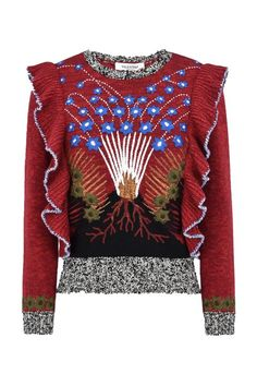 Valentino Mouliné Embroidered Sweater, $3,150; valentino.com   50 Best Sweaters For 2016 Fall - Warm Sweaters for Fall and Winter from Elle