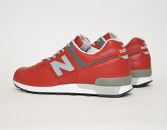New Balance 576 Rouge Red Cuir Made in England - Livraison gratuite en France