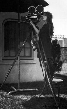 Silent Film Actress Producer and Screenwriter Mary Pickford Looking Through A Film Camera 1917 http://ift.tt/2gK4f52