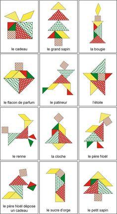 Le compte à rebours a commencé : Noël est dans moins d'un mois. Pour accompagner tous ces préparatifs, j'ai préparé un tangram de Noël pour mes élèves de moyenne et grande section. tangram sapin de noel solution, tangram arbre de noel, tangram le sapin de noel maternelle