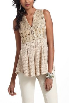 prob. not the most practical thing for me in DC right now. But goregous none the less. Crochet Ardita Tank #anthropologie