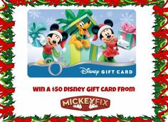 Mickey Fix $50 Disney Gift Card Giveaway Part 2! Ends 11/30!