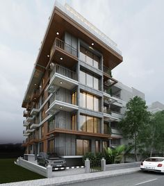 Açelya Apartment is an architectural project prepared by Minerva Architecture in Izmir. Architecture Building Design, Building Exterior, Building Facade, Facade Design, Concept Architecture, Residential Architecture, Exterior Design, Condominium Architecture, Design Design