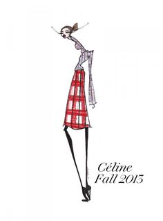 Celine Fall 2013 Illustration by Jamie Lee Reardin