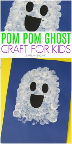 fall crafts for toddlers This easy ghost craft for kids is perfect for toddlers, preschoolers and school age kids and is a simple art activity that can help with their pincer gr Theme Halloween, Halloween Arts And Crafts, Halloween Crafts For Toddlers, Halloween Tags, Halloween Crafts For Kids, Halloween Crafts For Kindergarten, Halloween Makeup, Holidays Halloween, Vintage Halloween