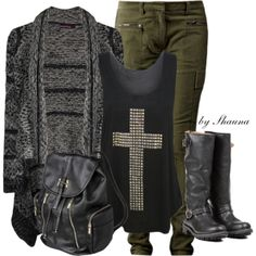 """""""Army Green Pants"""" by shauna-rogers on Polyvore"""