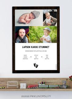Personoitava syntymätaulu neljällä kuvalla