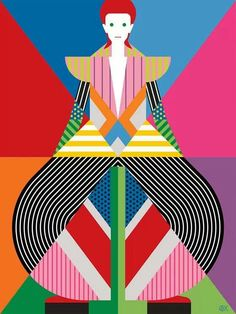 Bowie illustration - by Craig & Karl