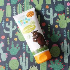 Coconut oil avocado oil and prickly pear extract all go into our sweet smelling Gruffalo Little Softy moisturiser. Smells diviine and is super kind to skin. #Gruffalo #naturalingredients #goodbubble