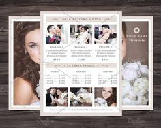 Photography Pricing Guide Template by NM-Design-Studio on @creativemarket