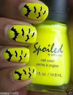 Halloween Bats Nail Art Transfers water Decals not stickers