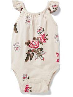 Flutter-Sleeve Crossback Bodysuit for Baby Product Image
