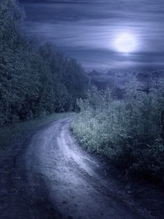 """The road was a ribbon of moonlight..."""