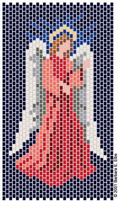 Peyote Beadwork Patterns Free Printable | Beaded Images -Angel Pattern