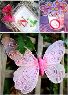 A Joint Butterfly and Frog themes Garden Birthday Party - ideas on DIY decorations, printables, food, treats and favors for a boy and girl or twin celebrations! Butterfly Birthday Party, Bird Party, Garden Birthday, Party Party, Party Wedding, Wedding Ideas, Fairy Tea Parties, Garden Parties, Joint Birthday Parties