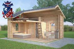 "Ref: 611 ""Ashford"" Log Cabin x Cabin size internal - x Bedroom size - x Bathroom size - x Pantry size - x Kitchen size - x Window S Tyni House, Tiny House Cabin, Tiny House Living, Small House Plans, Best Tiny House, Micro House, Cabin Design, Small House Design, Diy Cabin"