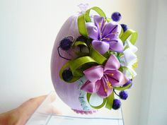 Одноклассники Easter Egg Crafts, Easter Projects, Easter Eggs, Ribbon Crafts, Felt Crafts, Diy And Crafts, Felt Ornaments, Holiday Ornaments, Christmas Cover