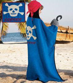 personalized bluebeard pirate towel