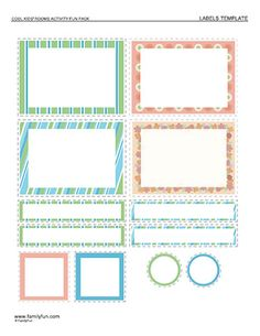 I love these! Lots of other neat printable labels on this website, too. >> Cool Container Labels