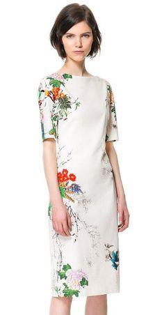 Zara floral sheath... yup!