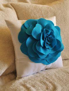 Ring Bearer Pillow - Felt Rose Ring Pillow