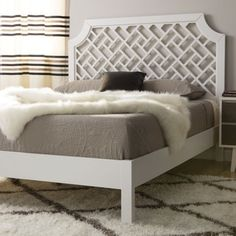 Trellis Queen-size Bed - Free Shipping Today - Overstock.com - 80004532 - Mobile