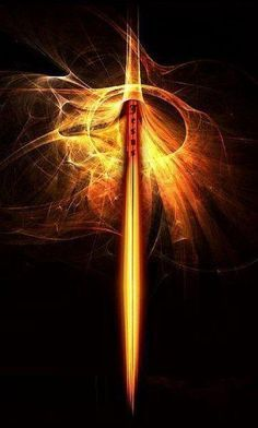 Fiery sword of the spirit in golden flames.This is awesome Prophetic Art! . Please also visit www.JustForYouPropheticArt.com for more colorful Prophetic Art you might like to pin or purchase or for painting ideas for your own paintings. Thanks for looking! Blessings!