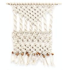 Macrame wall hangings add texture and warmth to any wall.