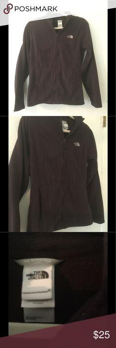 North face jacket Dark purple zip up with pockets . Nice fleece material North Face Tops Sweatshirts & Hoodies