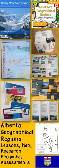 Give your students a way to learn about Alberta's Geographical Regions in these fun an engaging activities.  They are designed for maximum engagement for students and minimal work for teachers.
