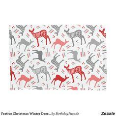Festive Christmas Winter Deer Design Pillow Case Christmas Gift Wrapping, Christmas Gifts, Christmas Decorations, Christmas Bedding, Deer Design, Designer Pillow, Winter Christmas, Happy Holidays, Reindeer