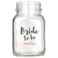 #Bride to Be Wedding Mason Jar - #giftsforher #gift #gifts #her