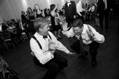 Even older folks get down at my wedding ;). Inside the Design Exchange, Toronto.