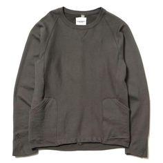TAKAHIROMIYASHITA The Soloist 2-pocket Crew Neck Sweat Shirt Aluminum