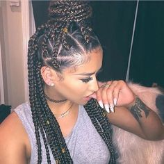 37 Unique Triangle Box Braids Hairstyles 2019 Funky For Black Women Box Braids Hairstyles, Long Braided Hairstyles, Girl Hairstyles, Hairstyles 2018, Hair Updo, Hairstyle Braid, Tousled Hair, Layered Hairstyles, Hairstyle Ideas