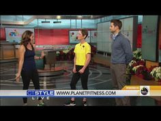 SARAH: TIME NOW FOR THE HOME FOR THE HOLIDAYS SEGMENT IT'S TOUGH TO STAY HEALTHY AT THIS TIME OF YEAR, BUT PLANET FITNESS HAS SOME TIPS  WE ARE HERE NOW WITH JOE PEPE AND SAM MILLER THANKS FOR JOINING US WE ARE READY FOR A WORKOUT, RIGHT? LET'S TALK STRESS AND THE HOLIDAYS IT'S...