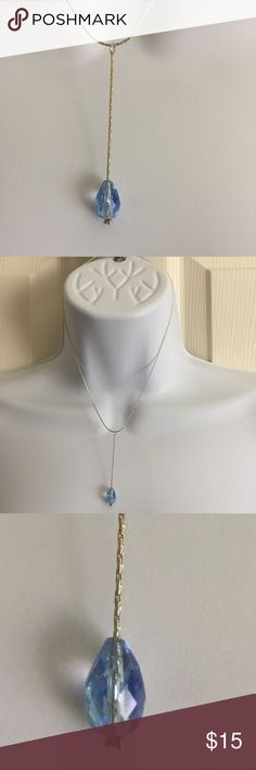 Brand-new light blue gemstone necklace silver Brand-new light blue gemstone with silver chain necklace fashion jewelry for woman's and ladies. Gadzooks brand. Check out my closet, we have a variety of Victoria Secret, Bath and Body Works, handbags, Aerosoles, shoes, fashion jewelry, women's clothing, Beauty products, home decors & more...  Ships via USPS. Don't forget to bundle, you save big! Always a FREE GIFT with every purchase!!! Thank you & Happy Poshing!!! Jewelry Necklaces