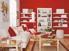 Cuando el rojo es utilizado en la decoración | Diseño de interiores ...