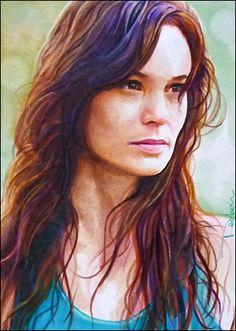 Lori Grimes by DavidDeb (actress Sarah Wayne Callies) #TheWalkingDead #Art #LoriGrimes