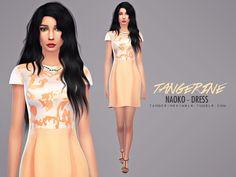 Naoko dress by tangerinesimblr at TSR via Sims 4 Updates