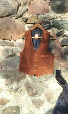 Vintage Mens Vest Brown Skin by TinutesCreations on Etsy