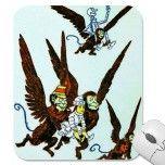 Wizard of Oz Winged monkeys flying monkeys Mousepad