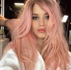 Georgia May Jagger with pink hair
