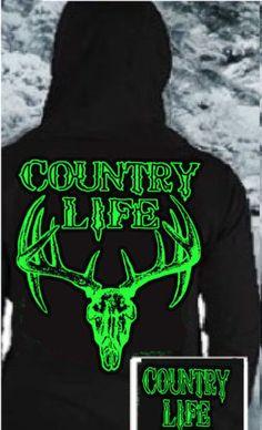 SKULL BONE HEAD HOODIE SWEATSHIRT BLACK NEON GREEN UNISEX COUNTRY LIFE